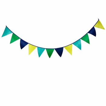 Custom Printing Triangle String Bunting Flags For Party Decor