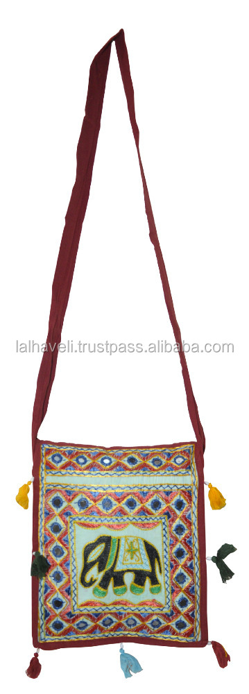 Handmade Embroidery Traditional Ethnic Indian Vintage Banjara Boho Hobo Sling Cross Body Women Shoulder Messenger Bag