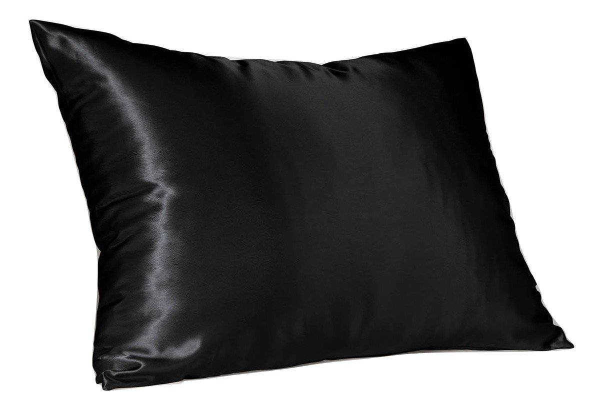 Sweet Dreams - Blissford Luxury Satin Pillowcase with Zipper, Standard Size, White (Silky Satin Pillow Case for Hair) By Shop Bedding (1-Pack)