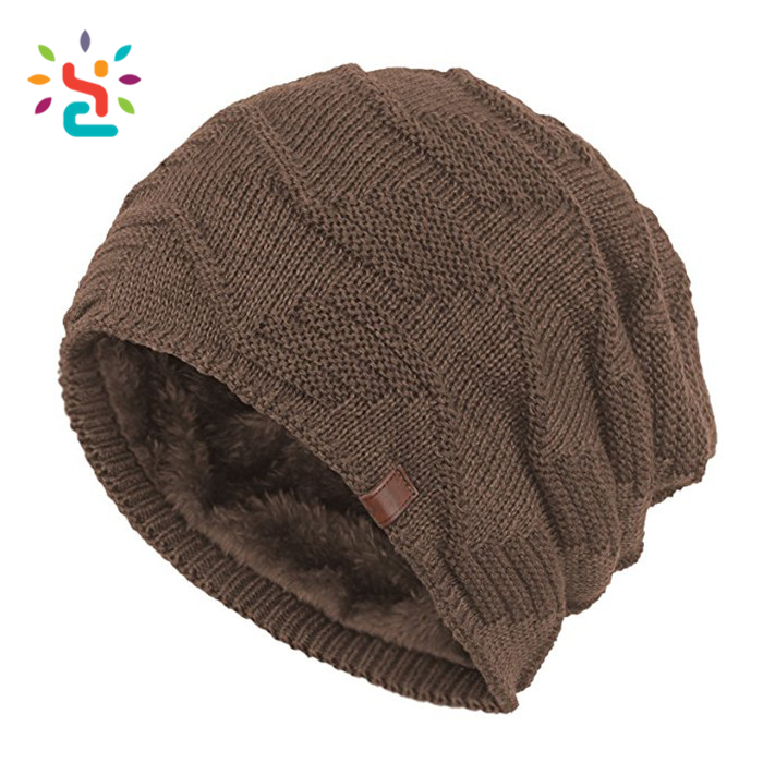 Custom leather patch beanies men baggy printing beanie wholesale skull cap  gorros de lana caps 604912cb3d5