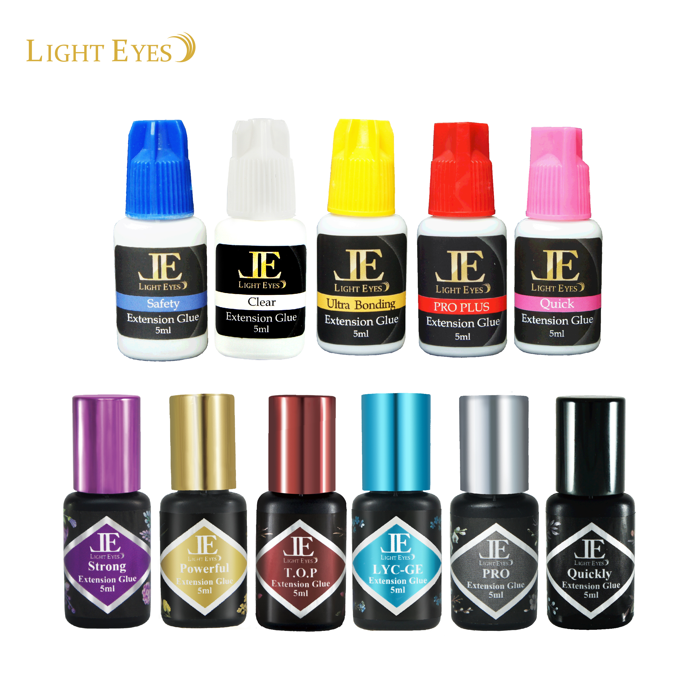 LIGHTEYES TOP Wimpers Lijm laatste 6-8 Weken/sneldrogende 0.5 ~ 1.5 Sec/Professionele lash Adhesive /5 ml