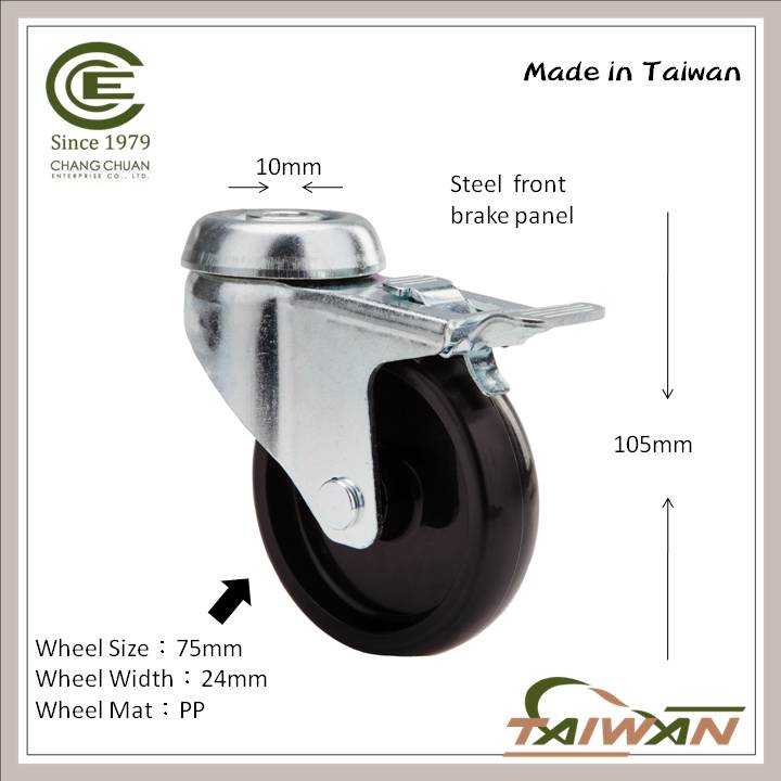 Best Selling Swivel Hollow Kingpin Caster for Sofa