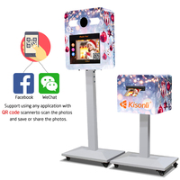Social Media Touch Screen Photobooth instant photo kiosk with printer for sale