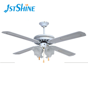 4 MDF cane blades white 52 inch decorative antique ceiling fan with light kit restaurant dining room use