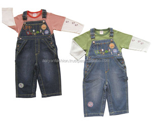 2 pieces of children boy baby clothing sets