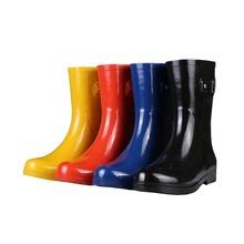 Red caviglia stivali di gomma pioggia fabbrica in Cina