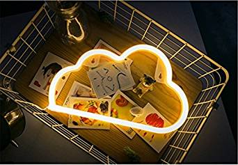 Neon LED Light Signs, Wall Decor, Decorative LED Lights for College Dorm, Wedding, Party, Apartment, Studios, Light Up Sign, Love Letters (Cloud)