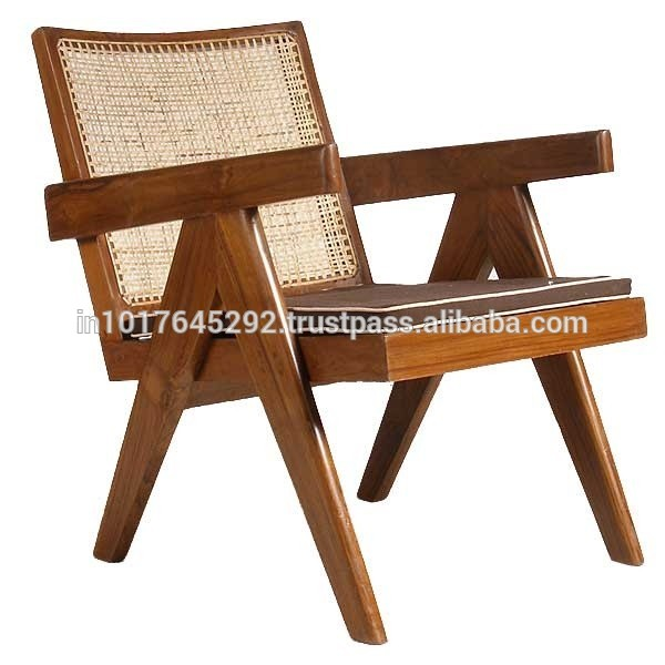 Replica Modern Design Le Corbusier Pierre Jeanneret Solid Teak Living Room  Chair Dining Room Chair - Buy High Quality Designer Wooden Chair,Fancy ...
