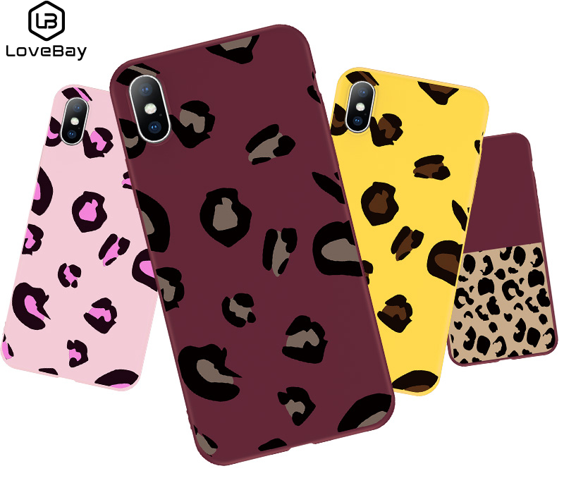 Hot Selling Colorful Leopard Print Phone Case Cover for iPhone X XR XS Max Winter Soft TPU Case for iPhone 6 6s 7 8 plus