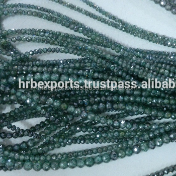 At Cheapest Price Fancy Colored Moissanite Beads-strands From India  Usa,Green,Yellow/brown/chocolate Color Moissanite Beads - Buy Moissanite