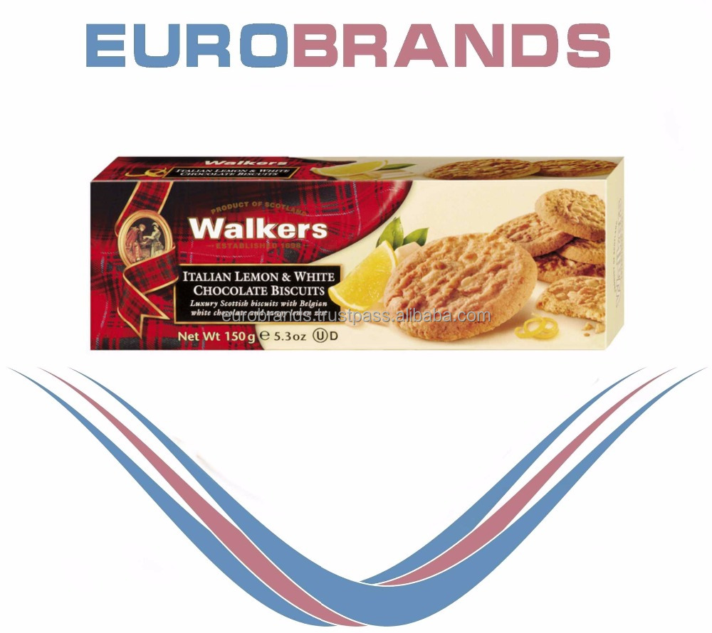 Walkers Shortbread Italian Lemon & White Chocolate Biscuits 150g