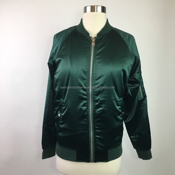 81e8a658e Forest Green Satin Bomber Jacket Tan Lightweight Bomber Jacket New Arrival  Style Wholesale Bomber Jacket - Buy New Different Shade Color Best Design  ...
