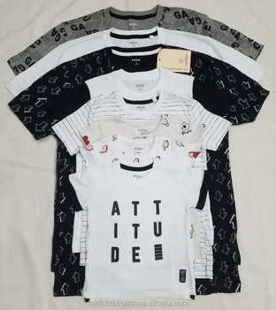 Bangladesh Garments Stocklot/Shipment Cancel/Surplus/Apparel Clearance Stock 100% Export Quality Boys To Adult Boys T Shirt