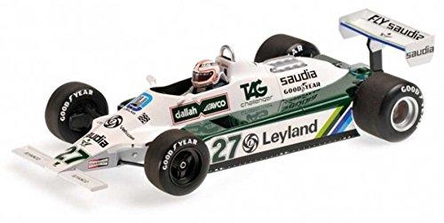 Williams Ford FW07B, No.27, Albilad-Williams racing team, Leyland, formula 1, 1980, Model Car, Ready-made, Minichamps 1:18