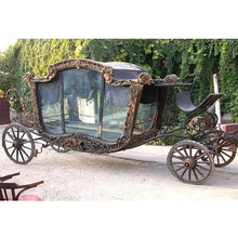 Nero a forma di Scatola Funerale Trasporto, Royal Black Horse Drawn Carriage, Trainati da Cavalli <span class=keywords><strong>Buggy</strong></span> Carrelli Per La Vendita