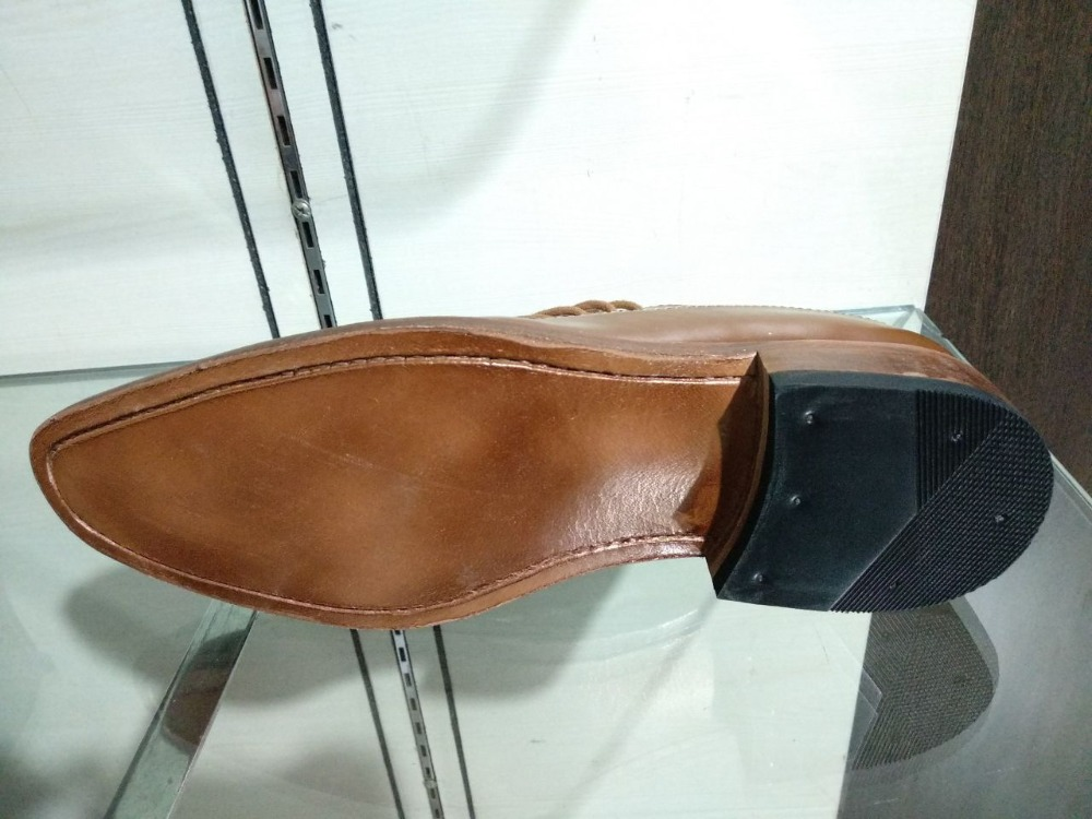 SHOE LEATHER HANDMADE 100 FULL WELTED GOODYEAR wX46qRc