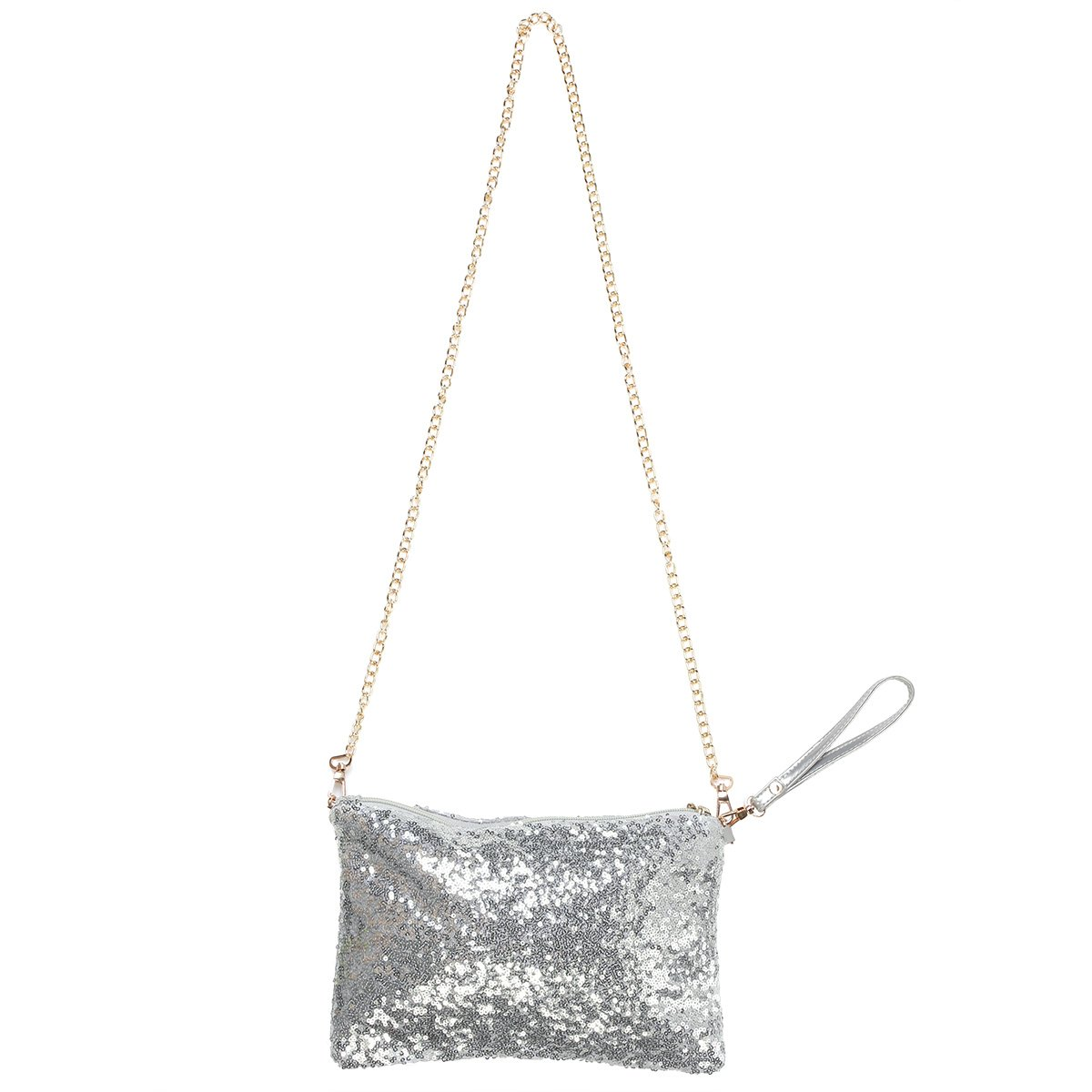 fa63d59f0f Get Quotations · OULII Fashion Glitter Bag Handbag Party Evening Clutch  Shoulder Bag for Women (Silver)