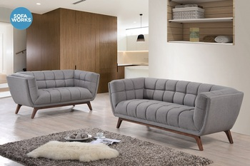 Wooden Leg Fabric Sofa Set, Home Furniture Modern Sofa