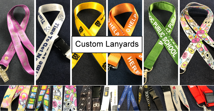 make one custom silk sreen satin lanyards