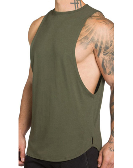 Heren tanktop workout fitness gym singlet/spier tee
