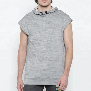 Men Training Wear Stretchable Sleeveless Hoodie