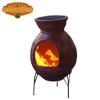 Mexican BBQ chimenea XL 55x90 cm - 22x35 inches, including grills, base and protective bag
