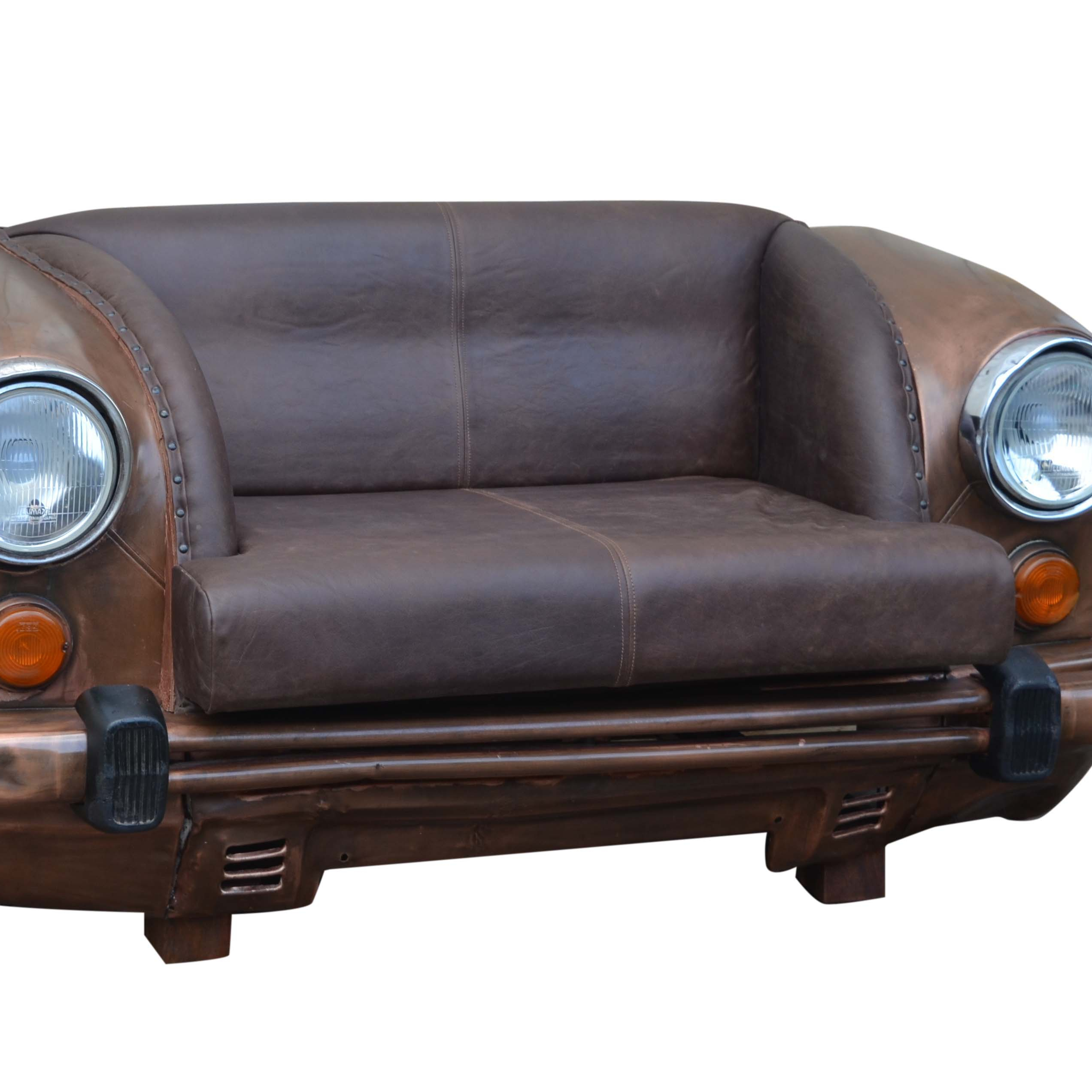 Car Sofa With Leather Seat And Round