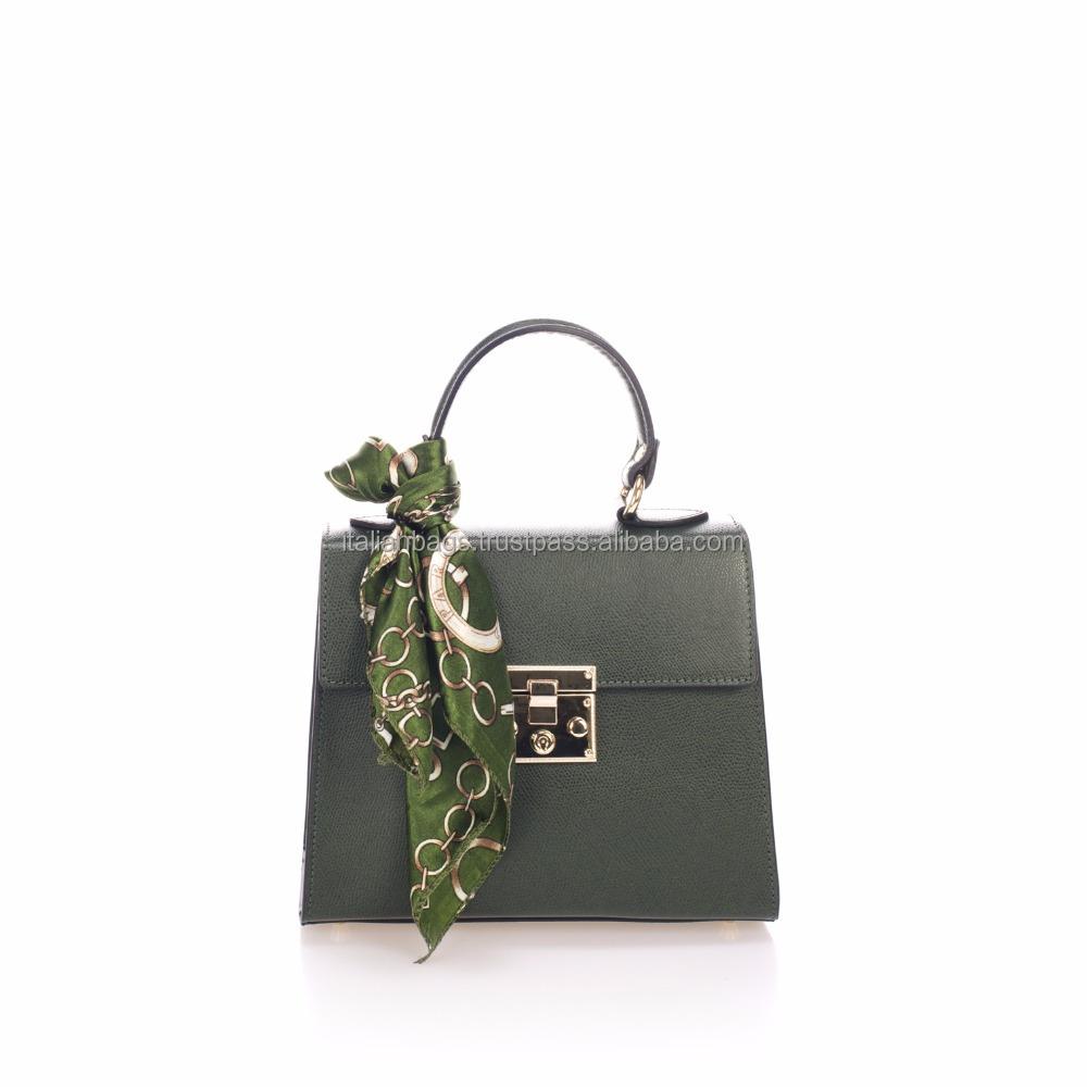 Ital Damen Leder Clutch Tasche Desinger Handtasche Borse in Pelle Echt Leder