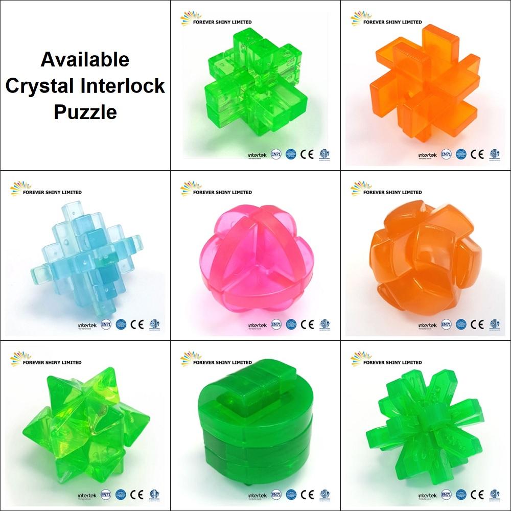Bulk Small Capsule Toy Iq Assembling Crystal Plastic Bar 6 Piece Burr  Interlock Puzzle - Buy Puzzle,3d Puzzle,3d Interlock Puzzle Product on
