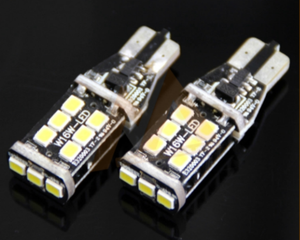 Hot Item!bright white T10 Car bulbs LED ERROR FREE CANBUS 15 SMD 2835 T10 W5W 168 501194 canbus led sight light
