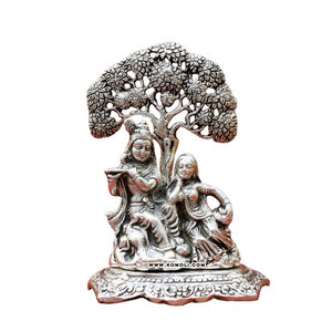 White metal lord Radha Krishna statue Indian wedding return gift