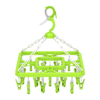 Plastic hanger with 24 clips for baby