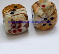 carved and polished Onyx Paper Weights Dice Cube natural stone