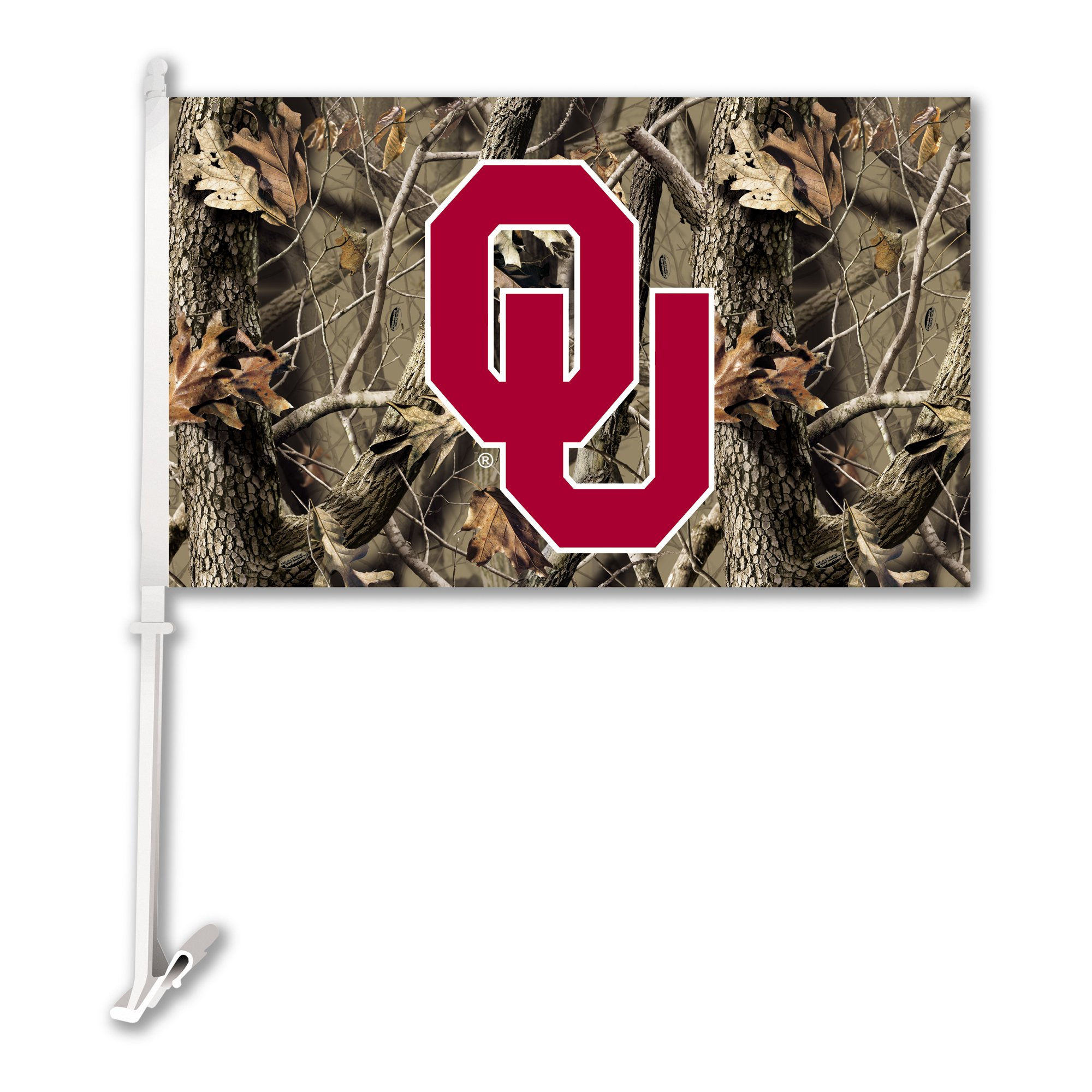 Bsi Products Collegiate Oklahoma Realtree Camo Car Flag