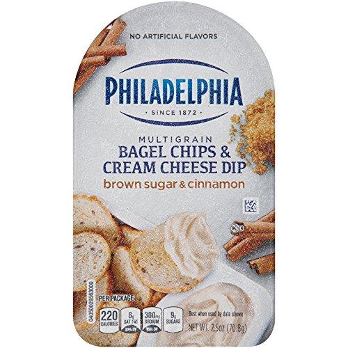 Philadelphia Multigrain Bagel Chips & Brown Sugar & Cinnamon Cream Cheese Dip, 2.5 oz