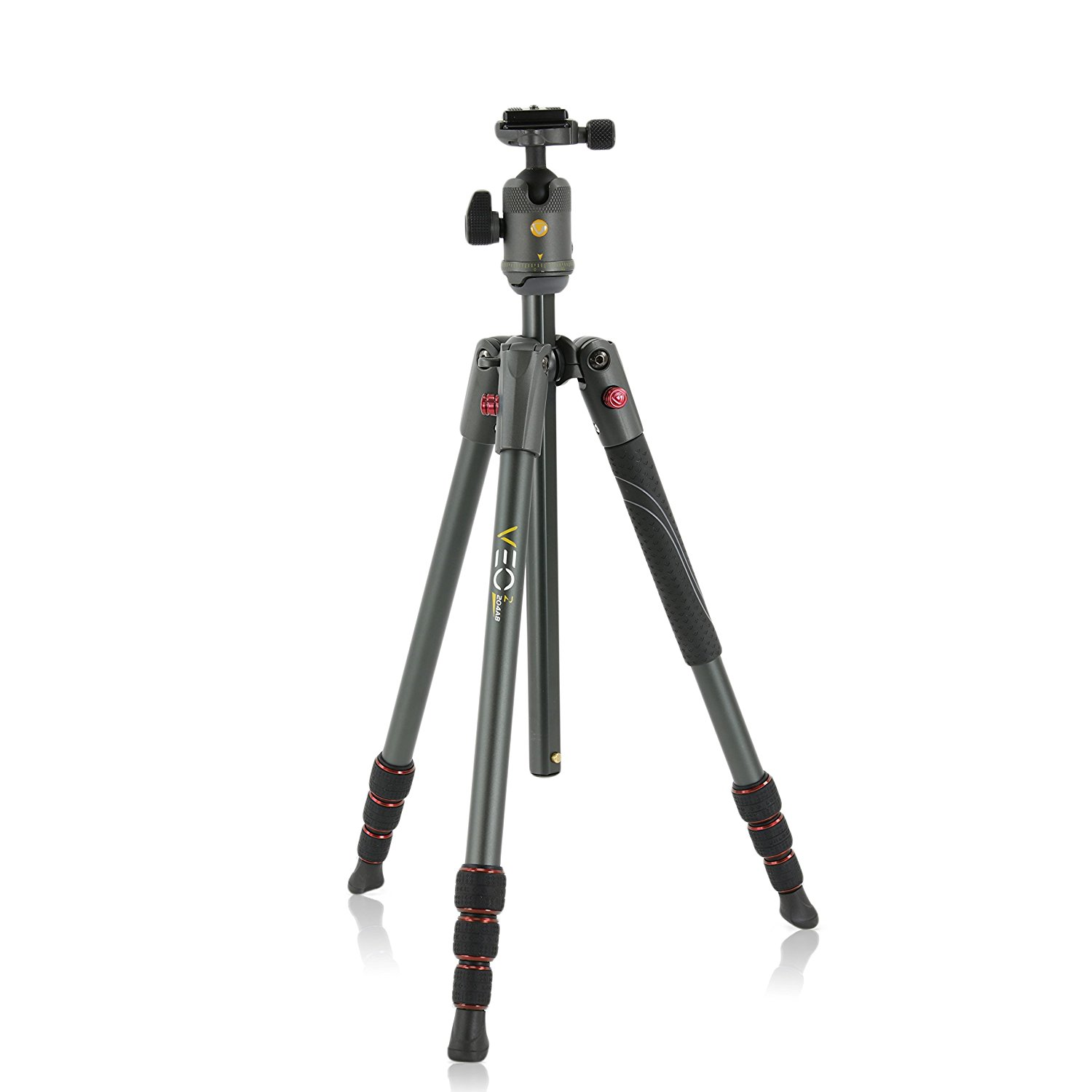 Vanguard VEO 2 204AB Red Aluminum Tripod with VEO 2 BH-45 Ball Head