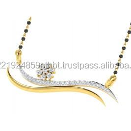 Diamond mangalsutra buy diamond mangalsutra pendantsgold diamond mangalsutra aloadofball Images
