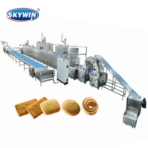 Skywin Automatic Biscuit Making Machine Price, Soft and Hard Biscuit Production Line capacity 100kgs -2000kgs/hour