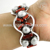 New stylish silver bangle pearl red coral gemstone jewellery 925 sterling silver jewelry wholesale online