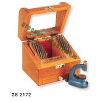 watchmaker tools- watchmaker punches & staking set in wooden box -watch repair tools
