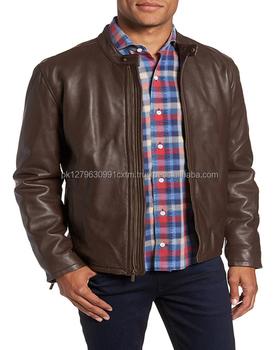 Pakistan Lamb Skin Moto Leather Jacket For Men New Style 2018 Low