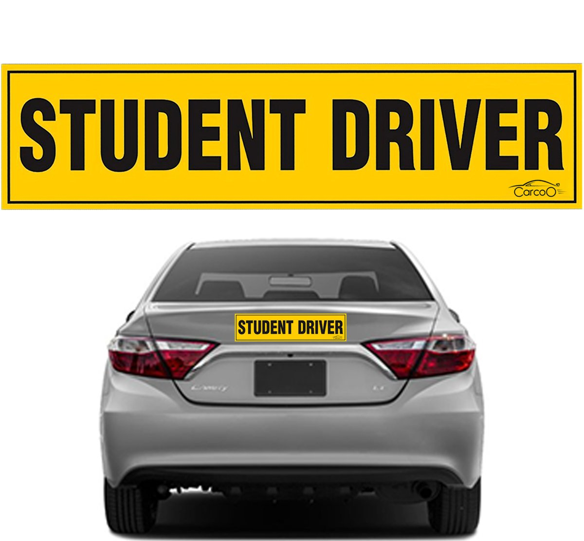 Student driver magnet for car new driver magnet student driver bumper sticker reflective