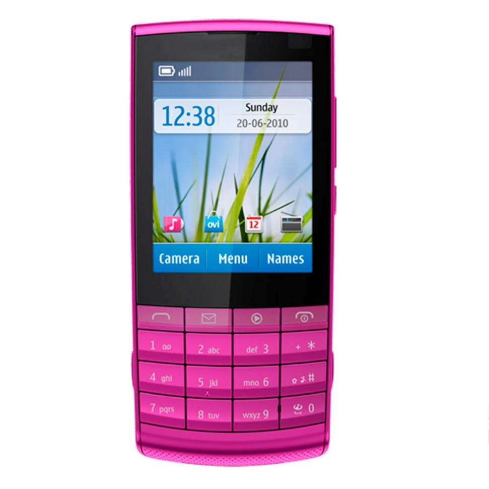cheap classic big button 2.4 inch sim gsm phone handphone 3G used refurbished nokia x3-02 music mobile phone