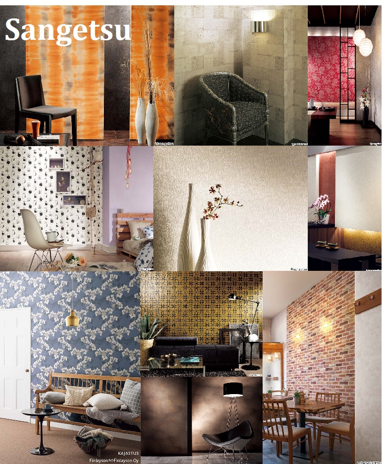 Household, Commercial Interior Wall Coverings Made in Japan, From Small to Container Lots Available, Free Sample and Catalogs