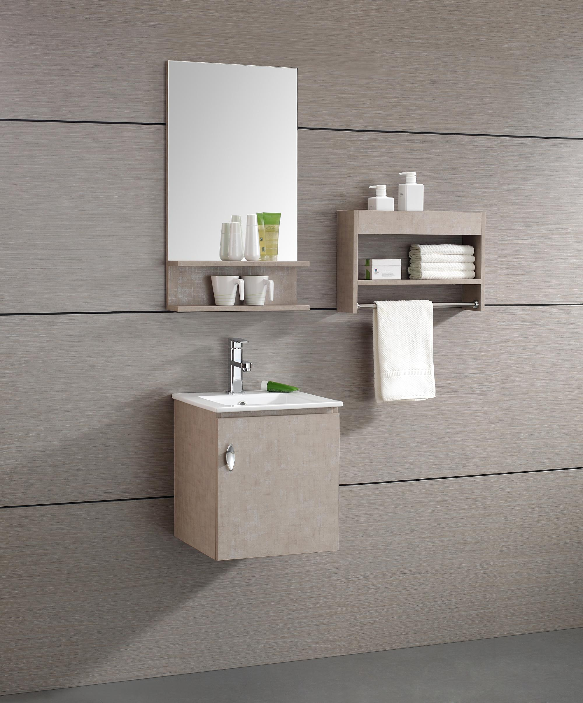 natural charm wood texture commercial bathroom vanities with two color options