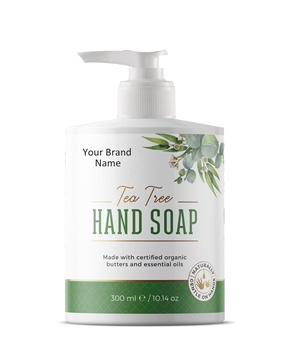 Naturale Sapone Liquido per Le Mani Con Tea Tree | Private Label | Commercio All'ingrosso | Massa | Made in EU
