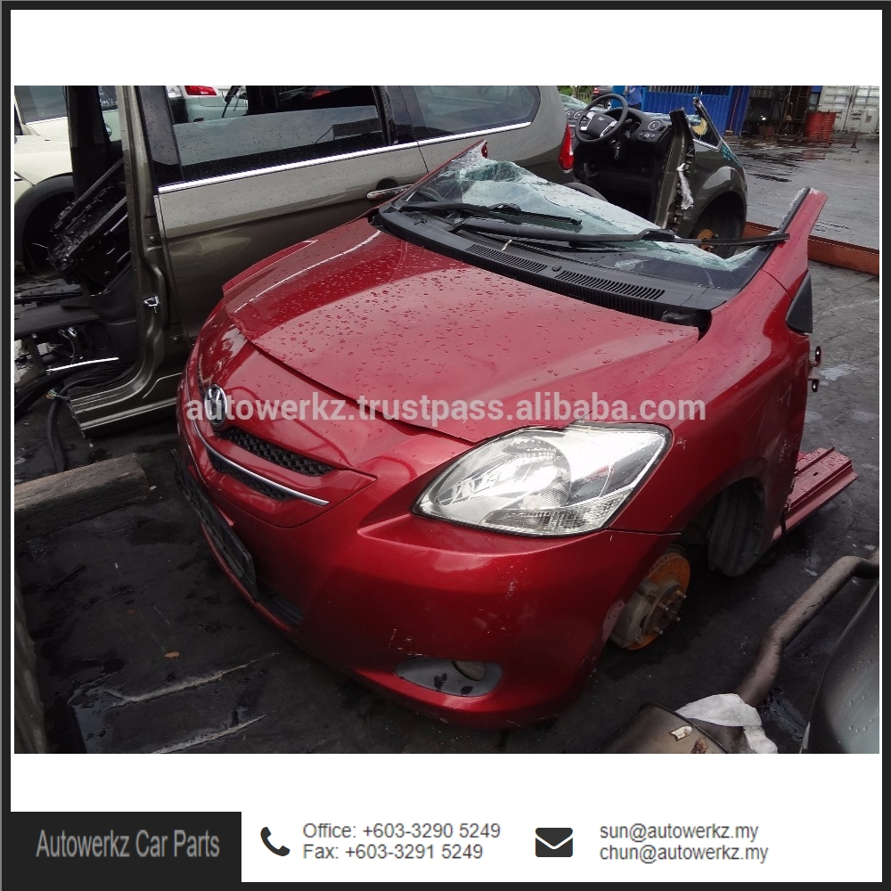 Good Condition Toyota Vios NCP93 Half Cut Body Kit Car (Red) from Malaysia