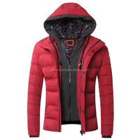 Furry Hoodie Color Block Zip-Up Padded Coat/Puffer jacket OEM Services manufacture