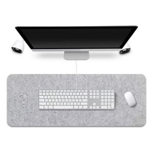 Custom Grey Extended Gaming Office Desk Pad Protector Felt Desk Mat