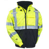 100% polyester mesh fabric winter High Visibility reflective Safety Jacket - safety wears
